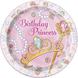 Pink Princess Plates - Pack of 8