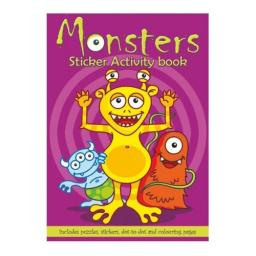 Monsters Sticker Activity Book - Pack of 100