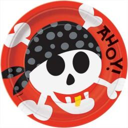 Pirate Fun Plates - Pack of 8