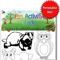 WILDLIFE FUN ACTIVITY Pack - Pack of 100 - MP3438