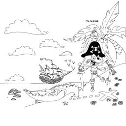 PIRATE ACTIVITY PLACE MAT - A4 - Pack of 500