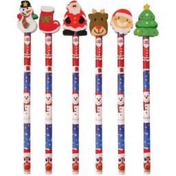Christmas Pencil with Eraser - Pack of 288