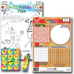 SPORTS FUN ACTIVITY Pack - Pack of 100 - MP3435