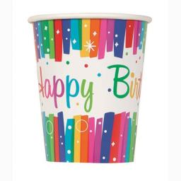 Rainbow Ribbons Cups - Pack of 8