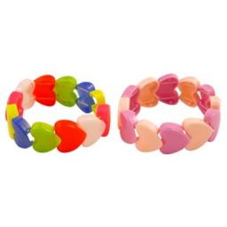 Heart Stretchy Bracelet - Pack of 60