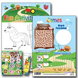 FARM FUN ACTIVITY Pack - Pack of 100 - MP2652