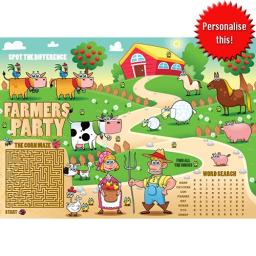 FARM ACTIVITY PLACE MAT - A4 - Pack of 250
