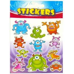 Monster Stickers - Pack of 72