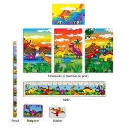 Dinosaur 5 Piece Stationery Set - Pack of 24