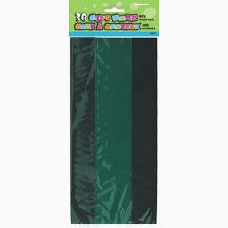 Cello Bag - Green - 6 packs of 30