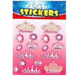 Princess Crown Stickers - Pack of 72
