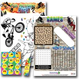 EXTREME SPORTS FUN ACTIVITY Pack - Pack of 100 - MP3434