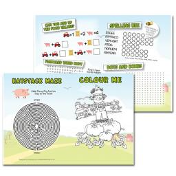 Farm Themed A3 Activity - Pack of 250
