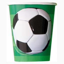 3D Soccer Cups - Pack of 8