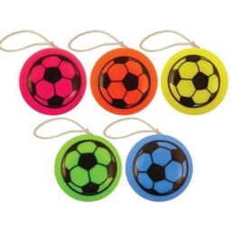Football Yo Yo Multi Coloured - Pack of 72