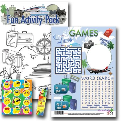 TRAVEL FUN ACTIVITY Pack - Pack of 100 - MP3436