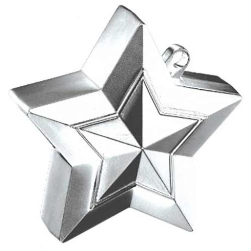 Star Balloon Weight Silver