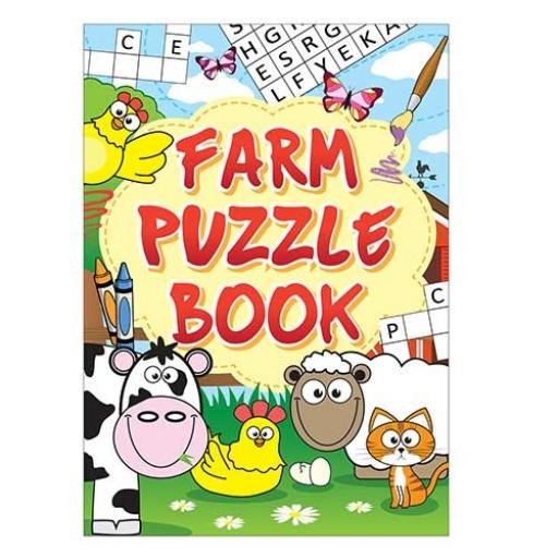 Farm Puzzle Fun Book - 16pp - Pack of 48