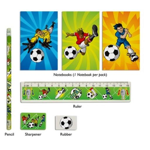 Football 5 Piece Stationery Set - Pack of 24