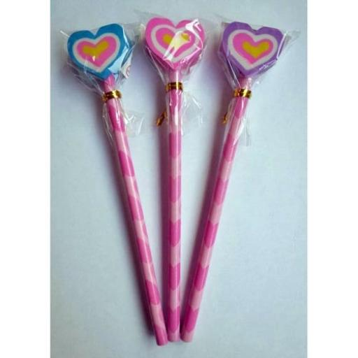 Heart Pencil with Eraser - Pack of 24