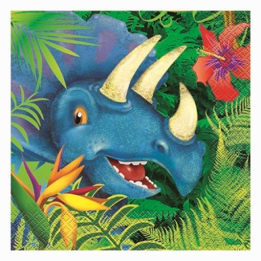 Dinosaur Napkins - Pack of 16
