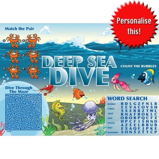 SEALIFE ACTIVITY PLACE MAT - A4 - Pack of 500