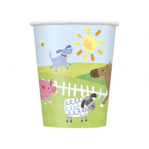Farm Party Cups - Pack of 8
