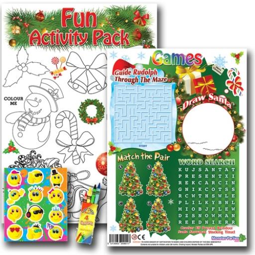 CHRISTMAS FUN ACTIVITY Pack - Pack of 100 - MP3433