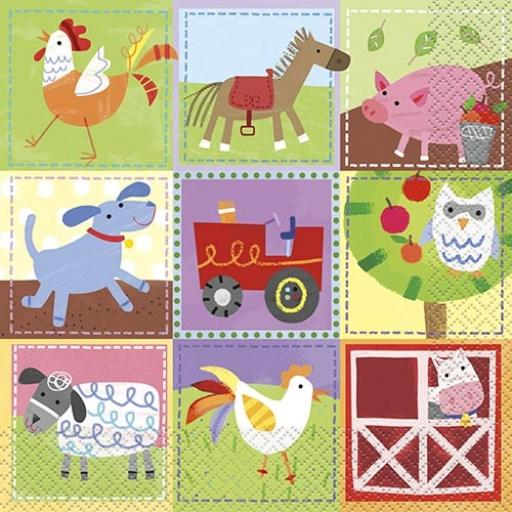 Farm Party Napkins - Pack of 16