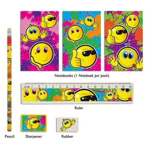 Smile 5 Piece Stationery Set - Pack of 24