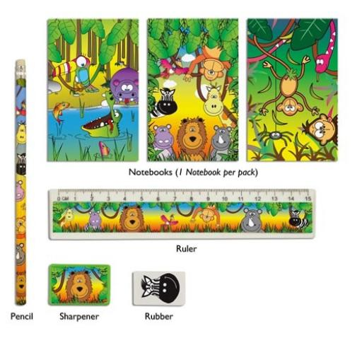 Jungle 5 Piece Stationery Set - Pack of 24