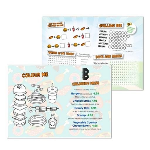 Food Themed A3 Activity - Pack of 250