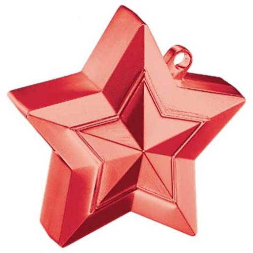 Star Balloon Weight Red