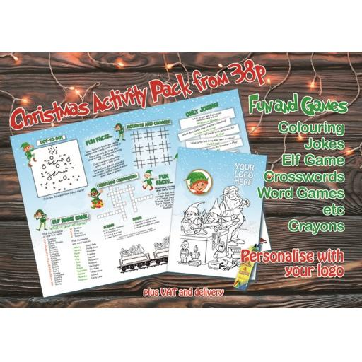 Naughty Elf Themed A3 Activity - Pack of 250