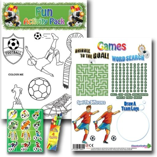 FOOTBALL FUN ACTIVITY Pack - Pack of 100 - MP2693
