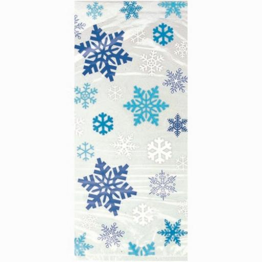 Cello Bag - Snowflakes - 6 packs of 20