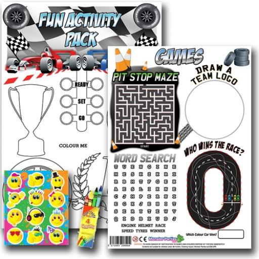 GRAND PRIX FUN ACTIVITY Pack - Pack of 100 - MP3437