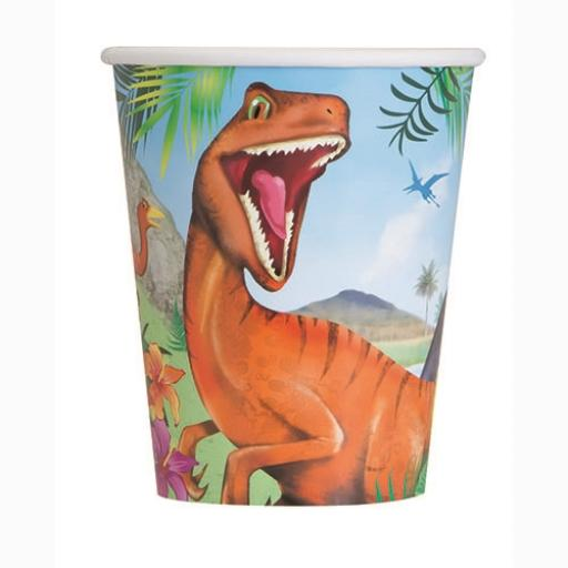 Dinosaur Cups - Pack of 8