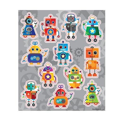 Robot Stickers - Pack of 120