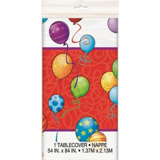 Birthday Balloons Tablecover