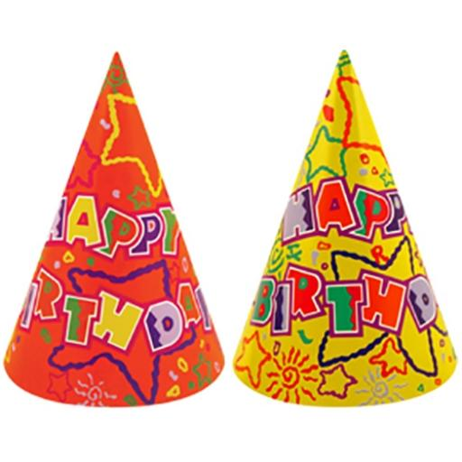 Cone Hat - Happy Birthday - Pack of 144