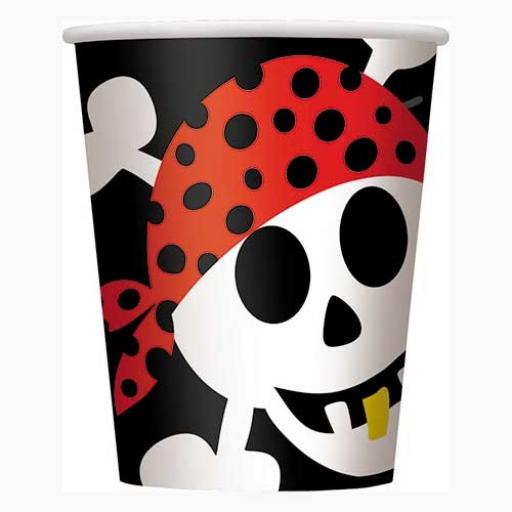 Pirate Fun Cups - Pack of 8