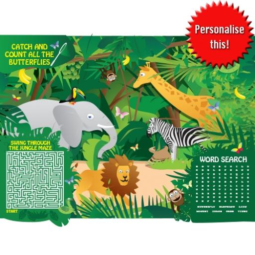 JUNGLE ACTIVITY PLACE MAT - A4 - Pack of 500