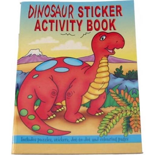 Dinosaur Sticker Activity Book - Pack of 100