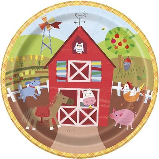 Farm Party Plates - Pack of 8