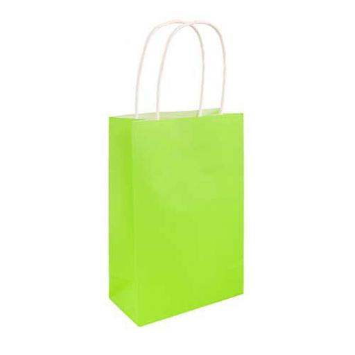 Neon Green Paper Party Bag - Pack of 48