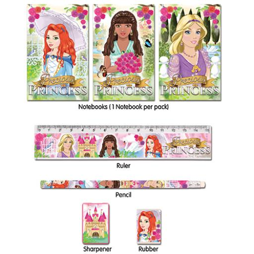 Princess 5 Piece Stationery Set - Pack of 24