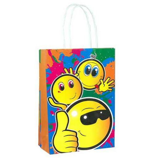 Smiley Face Paper Party Bag - Pack of 48