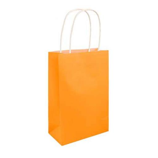 Neon Orange Paper Party Bag - Pack of 48
