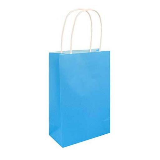 Neon Blue Paper Party Bag - Pack of 48